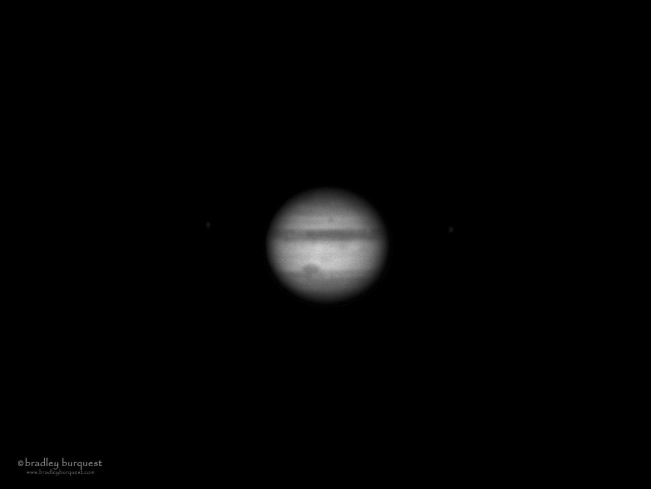 Jupiter in black and white